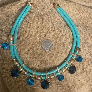 Costume jewelry blue & gold sparkle 💙